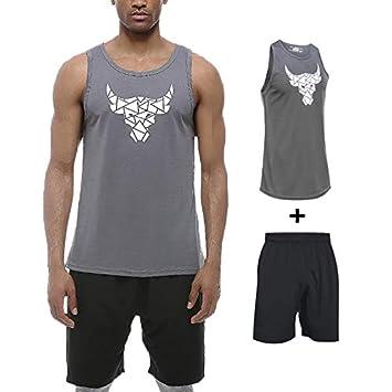 LZMXFZ Traje de Camiseta para Hombre, Running Fitness Personalidad ...
