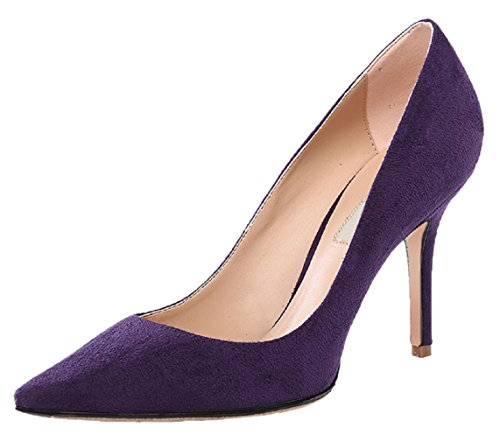 Pumps Toe Lila 012 Flanell HooH Pointed Damen Stiletto qBpABw