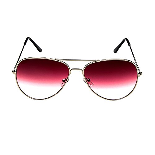 ZOMUSAR Sunglasses, Unisex Fashion Retro Vintage Retro Aviator Mirrored Lens Polarized Sunglasses Eye Glasses ()