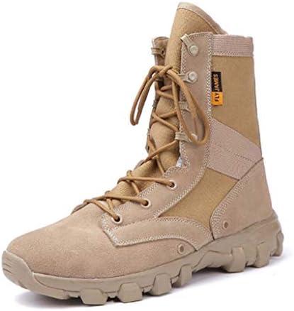 軍事戦術ブーツオックスフォードレザーは暖かいハイヘルプレースアップスタイルの登山靴滑り止め耐摩耗ラバーソールをキープ (色 : ベージュ, サイズ : 28 CM)