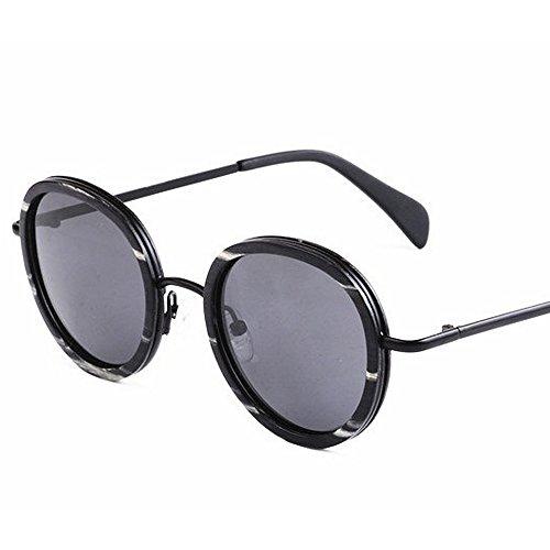 de y TAC Pesca de Hecho Mano Retro Redondo polarizadas Sol Sol UV Metal pequeño protección Madera Gafas de Gafas conducción Exquisito de Lente a Libre Estilo Aclth Gris Playa al esq Aire Gafas de Bvqw1Tw
