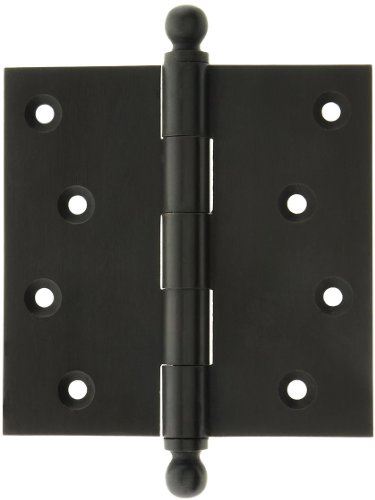 - House of Antique Hardware W-04HH-320-OB Solid Brass Door Hinge with Ball Finials, 4