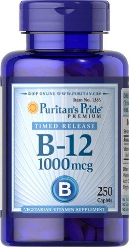 Mcg Timed Release (Puritan's Pride Vitamin B-12 1000 mcg Timed Release-250 Caplets)
