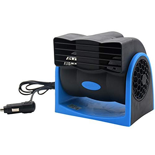 (Taotuo Car Cooling Air Fan 12V Auto Vehicle Van SUV Speed Adjustable Silent Cooler Vent)