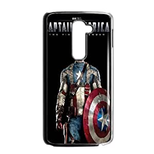 Personality customization TPU Case with Captain America LG G2 Cell Phone Case Black