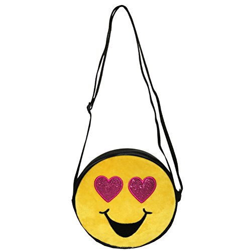 Emojination Love and Laughter 2-Sided Matt PVC Crossbody Bag, Adjustable Straps by Emojination (Image #3)