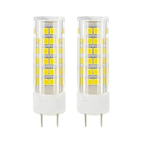 Cooper Crystal Table Lamp - G8 LED Bulb Dimmable 6 Watt Daylight White 6000K G8 Bi-Pin Base AC 110-130V 40X3014SMD for Under Counter Kitchen Lighting (Pack of 2)