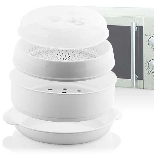 Microvap 2 niveles cocinar al vapor microondas en minutos ...