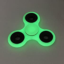 Tri Fidget Hand Spinner - fidget work Ultra Fast Bearings - Finger Toy, Great Gift (Luminous)