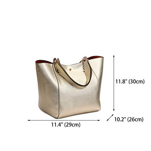 de Shoppers Carteras bolsos y clutches Mujer hombro Oro de mano y Bolsos DEERWORD bandolera 8A5qIxnnw
