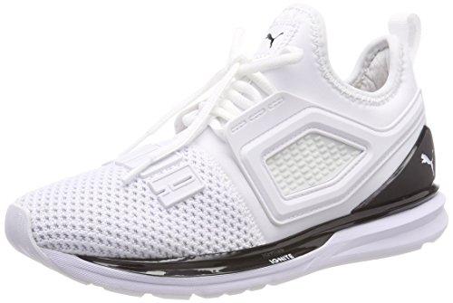 Unisexe Adulte Pumas Enflamment Sans Limites 2 Chaussures De Course, Blanc (puma Noir Puma 04)