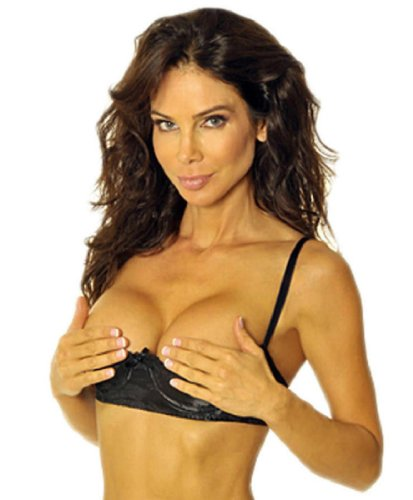 Empire Intimates Jacquard Shelf Bra Open Cup Show Nipples - BLACK -