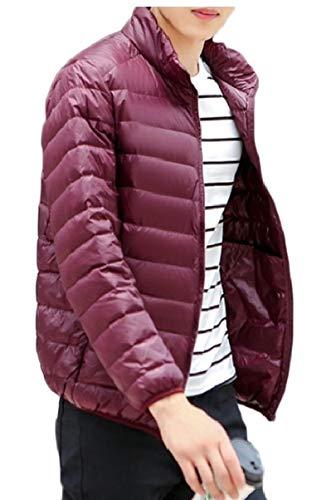 Cappotto Uomini Sicurezza 3 Della Packable Piumino Alla Coreana Leggero Colletto ZfxqAtwSZ