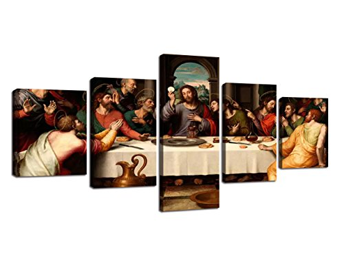 Yatsen Bridge The Last Supper, Leonardo da Vinci Classic Art Reproductions. Giclee Print& Silver Museum Quality Framed Art for Wall (Reproduction Body Panels)