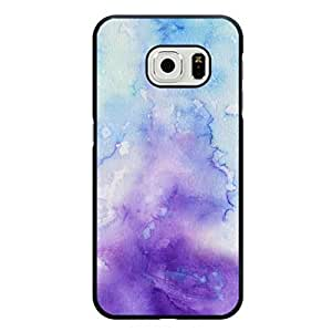 Colorful Watercolor Phone Case For Samsung Galaxy S6 Edge Blue and Purple Style