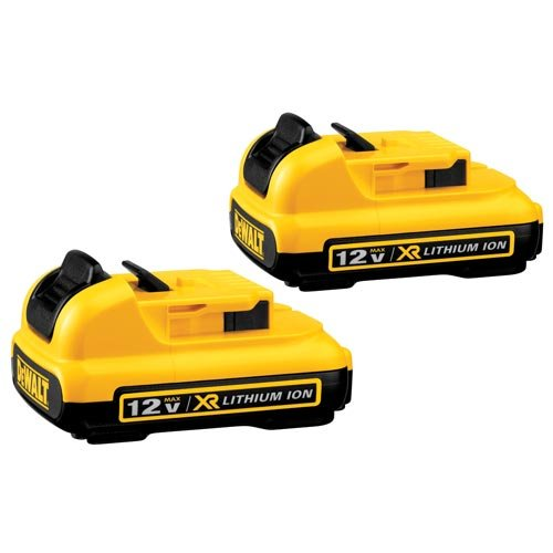 Dewalt Batteries Two Pack - DEWALT DCB127-2 12V Max Lithium Battery, 2-Pack