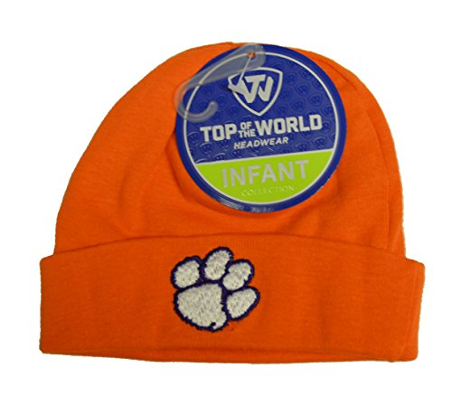 Clemson Tigers Newborn Baby Cuff Beanie Hat - NCAA Infant Winter Knit Cap