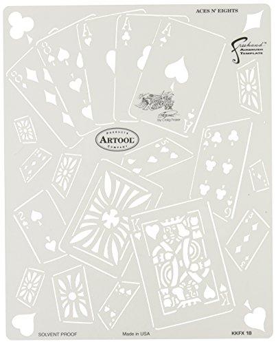 Artool Freehand Airbrush Templates, Kustom Kulture - Aces N. Eights