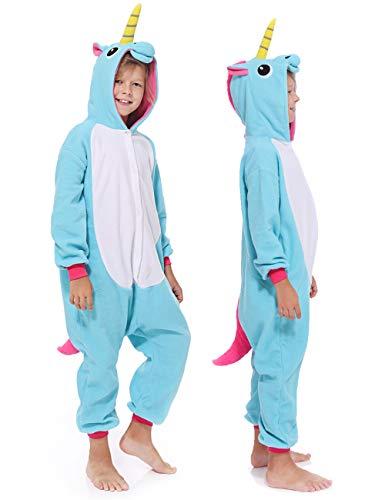 Unisex Children Kids Animal Unicorn Pyjamas Onesie Cosplay Party Costume ()