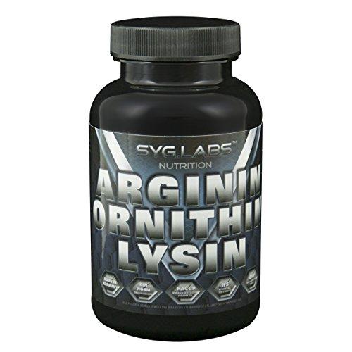 Syglabs Nutrition Arginin Ornithin Lysin - 100 Kapseln á 750mg, 1er Pack (1 x 103 g)