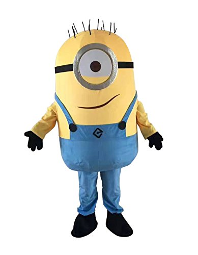 LilGee New One Eyed Minion Despicable Me Mascot Costume Cosplay Fancy Dress Adult Size Outfit Birthday Party Event - Me Despicable Outfit