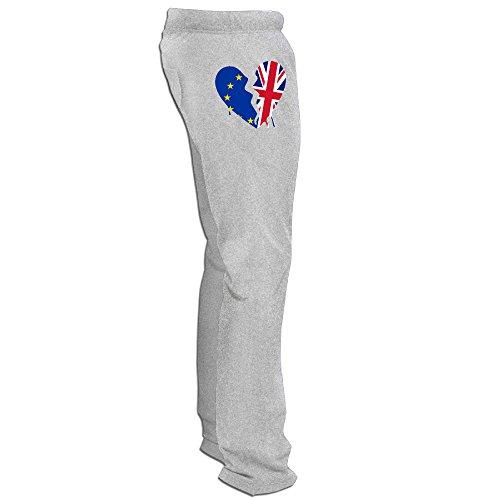ZMILY Men's High Quality Britain Exit European Union Workout Pants 3X Ash -