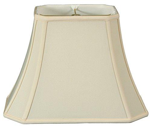 Rectangle Shape Cut - Royal Designs Rectangle Cut Corner Lamp Shade - Eggshell - (6 x 8) x (9 x 14) x 10.5