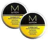 Paul M Clean Cut Medium Hold Semi Matte Styling Cream 3 oz (2 Pack)