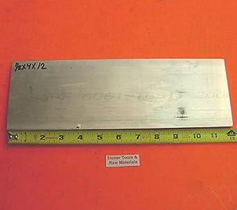 """2/"""" x 4/"""" Aluminum 6061 Flat Bar Mill Stock 12/"""" Long"""