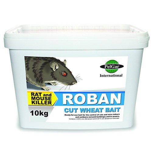1x 10kg Roban geschroteter Weizen Ratte Maus Professionelle Köder Poison Nagetier Killer