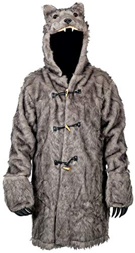 6f3080b88e Image Unavailable. Image not available for. Colour: The Wolf Costume Faux  Fur Pelt Jacket ...