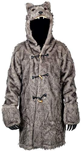 Amazon.com: El Lobo traje Pelt de piel sintética chamarra ...
