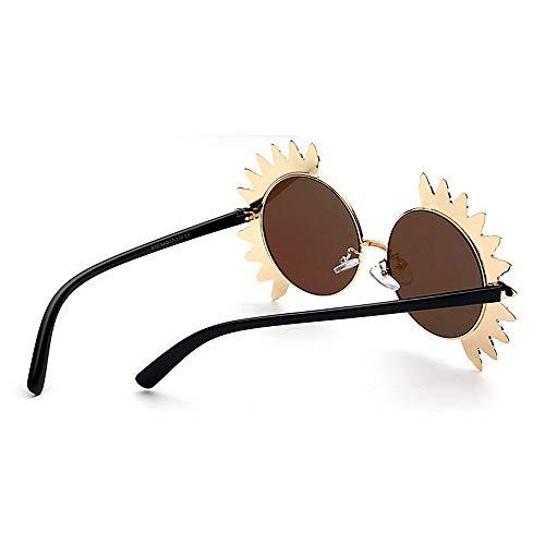 Protection Lunettes lentille Ronde UV Sunflower Conduite Les Lady Ultra C6 colorée Plein Soleil légères Femmes de Métallique Voyage air Forme de Wenjack Sports wPzv6qx8w