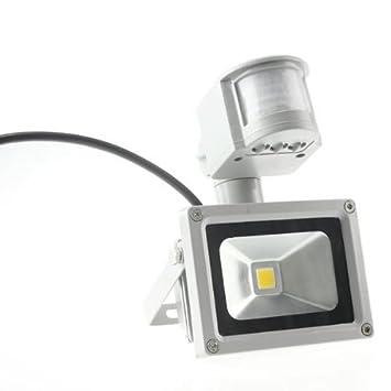10W LED Fluter mit Bewegungsmelder Außenleuchte Strahler Baustrahler Kaltweiβ