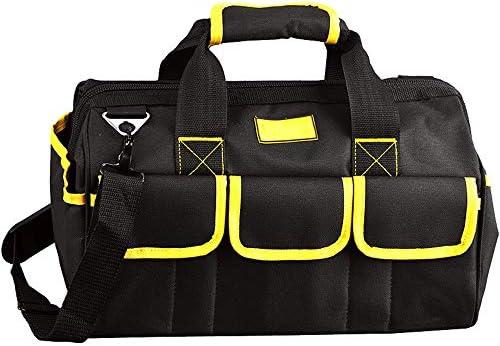 耐久性工具バッグ ヘビーデューティオックスフォード布パワーツールハンドバッグプロフェッショナルツール収納袋主催するための手 工具収納&仕分け管理&運搬用 (色 : Black, Size : One size)