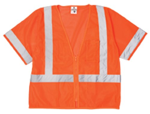 ML Kishigo 1265 Ultra-Cool Polyester Mesh Economy Vest, 5X-Large, Orange ()