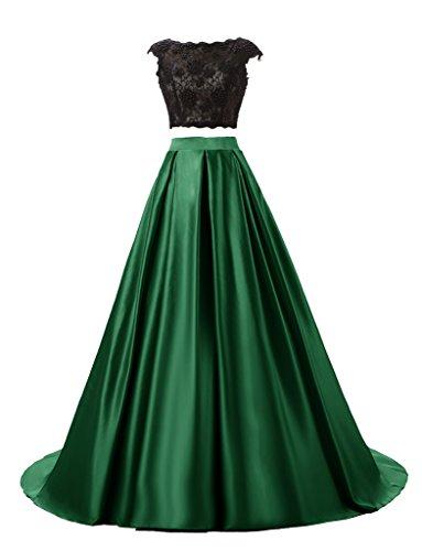 JYDress - Vestido - trapecio - para mujer Verde