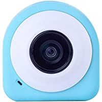 Adealink Mini Wifi Camera HD Wireless Bluetooth Selfie Digital Camera 145 Degree Wide Angle with Remote Control (blue)