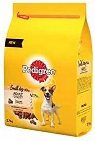 Pedigree Dry Small Dog Food with Chicken and Vegetables (2.7kg) (Pack of 2) – Dogs Corner