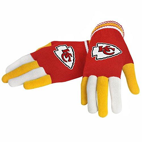 NFL Football 2014 Multi Color Team Logo Knit Gloves - Pick Team (Kansas City Chiefs) - Kansas City Chiefs Glove
