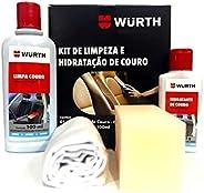 Kit Completo para Limpeza e Hidratação de Couro 200g Wurth