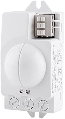 Interruptor de Luz de Radar, Interruptor de Sensor, Microondas, Detector de Movimiento, Ángulo de Detección 360 °