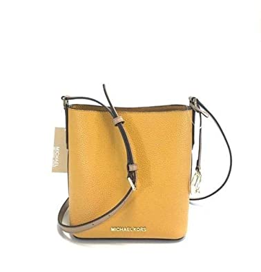 0c3cb8c04bfb Image Unavailable. Image not available for. Color  Michael Kors Kimberly  Small Marigold Orange PVC Crossbody Bucket Bag