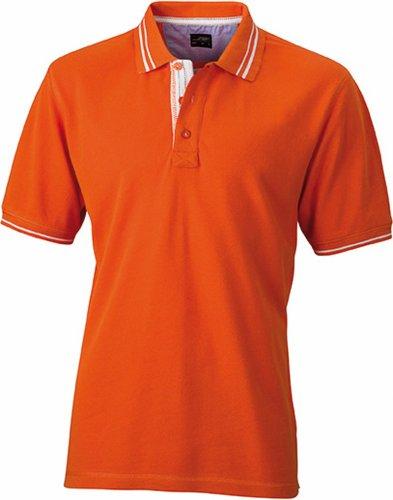 JN947 Herren Lifestyle Polohemd Poloshirt, Orange , Gr. M