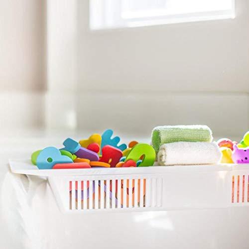 Honana BX-592 Adjustable Kids Bathtub Shower Toy Organizer Basket Retractable Storage Holder from Yongse