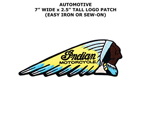 [Indian Motorcycles Outlaw Hog Biker Club Racing Embroidered Iron/Sew-on Theme Logo Patch/Applique] (Space Outlaw Costume)