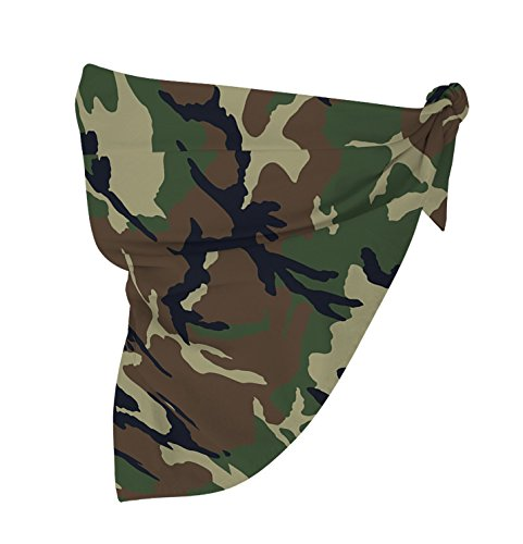 - McWay Paisley Printed Bandana - Premium Quailty, 100% Cotton, Vivid (Camouflage, 12)