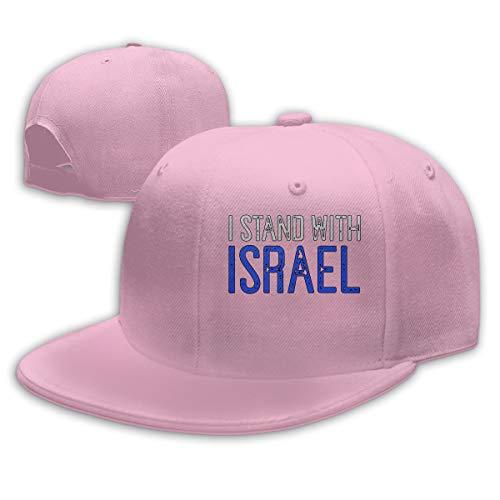 I Stand with Israel Mens Womens Adjustable Plain Baseball Cap Hip Hop Hats Pink