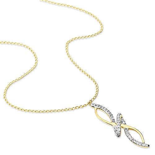 HISTOIRE D'OR - Collier Eliseum Or Jaune Vrille Diamants - Femme - Or jaune 375/1000