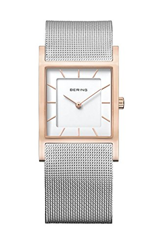 BERING Time 10426-066 Womens Classic Collection Watch with Mesh Band and super hardened mineral glass. Designed in Denmark.